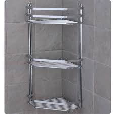 Bathroom Chrome Shelves Chrome Satina Hanging Rectangle Corner Shower Caddy Bathroom Shelf
