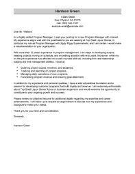 Examples Of Customer Service Cover Letters Best Management Cover Letter Examples Livecareer