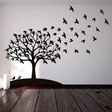 Sharpie Wall Mural Vinilo Decorativo Arbol De Pajaros Encuentralo En Www