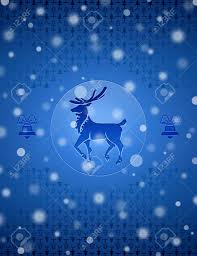 new year backdrop christmas snow background with deer and bells new year backdrop