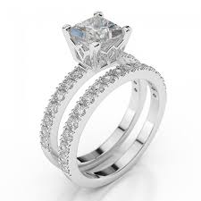 2 carat white gold engagement ring bridal set princess premier 1 1 2 carat 1 50ct