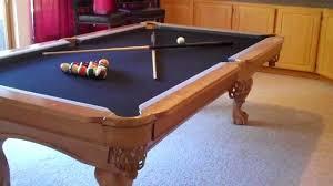 brunswick brighton pool table 8 foot pro line solid maple slate pool table 1000 youtube