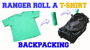 how to fold a shirt for travel images Ranger roll a t shirt for backpacking travel minimalist jpg