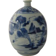 Blue And White Vases Antique Antique Blue U0026 White Canton Porcelain Vase Ca Early 1800s From