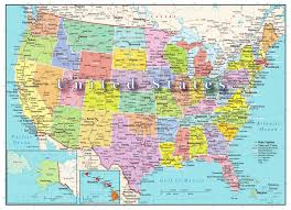 Us Maps With States Us Map With States Capitals United States Map Showing State