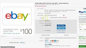 send gift cards by email 100 ebay giftcard for 95 email delivery