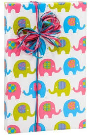baby boy wrapping paper baby elephant march girl or boy gift wrap wrapping