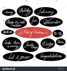 handwriting lettering set happy new year stock vector 348827483