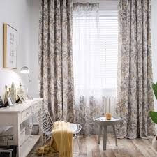 Boutique Curtains Modern Boutique Bedroom Curtains For Living Room Simple Polyester