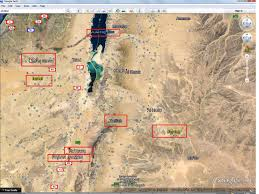 Gulf Of Aqaba Map Where Is Paran Or Desert Of Paran In Time Of Abraham Hagar Ishmael