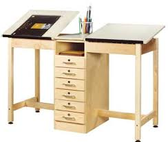 Desk With Drafting Table All Two Station Drafting Table W Drawer Base By Shain Options