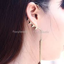 cool earring wholesale korean style earrings buy golden rivet ear cuff spike