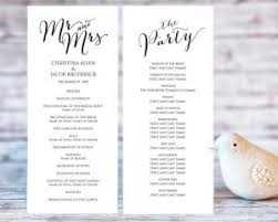 create a wedding program wedding program templates wedding templates and printables