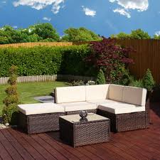 Piece Faro Modular Rattan Corner Sofa Set From Season  Season - Wicker sofa sets