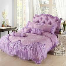 Purple Ruffle Comforter How To Make Lavender Coverlet Hq Home Decor Ideas