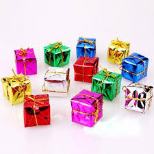 12 pcs lot ornament colorful mini gift box