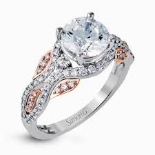 fine engagement rings images 18k white rose gold two tone engagement ring fabled collection jpg