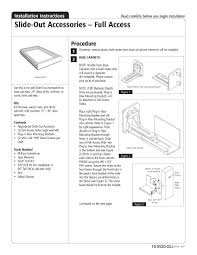 How To Install Cabinets In Kitchen Kitchen Cabinet Rollout Shelves How To Install The Home Depot