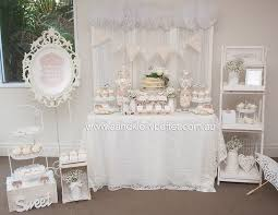 eshara u0027s white shabby chic baby shower