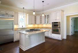interior fancy circular white kitchen countertop with modern