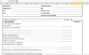 plantilla de nomina para rellenar de nómina en excel y pdf descargalo gratis
