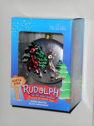 for sale rudolph clarice crafted glass ornament rudolph the