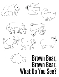 brown bear brown bear coloring sheet u2014 montessori