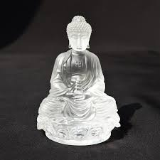 aliexpress com buy clear crystal glass buddha figurine feng shui