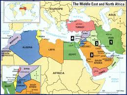 Middle East Physical Map by The Middle East Global History U0026 Geography I