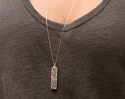 long silver crystal necklace images Long boho necklace etsy jpg