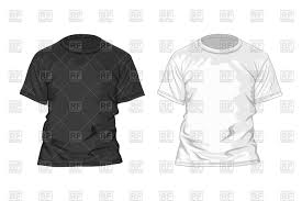 black and white t shirt design template royalty free vector clip