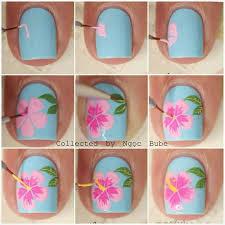 step by step hibiscus nail design nail art nail salon irvine