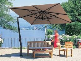 Cantilever Patio Umbrella With Base Fim C Series 9 5 Square Cantilever Patio Umbrella