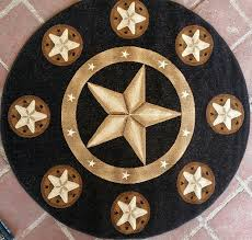 5ft Round Rug by Amazon Com Texas Star Area Rug Round Black Skinz Design 78 5ft