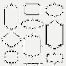 photo frame template vector free download