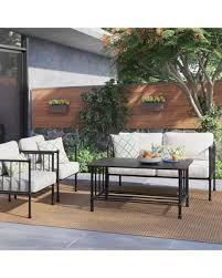 Patio Conversation Sets On Sale Amazing Deal On Fernhill 4 Pc Metal Patio Conversation Set