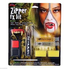 horror zipper fx zip zombie wound cut scar theatrical halloween