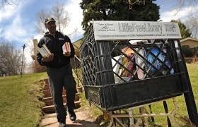tiny libraries in front yards across colorado inspire love of