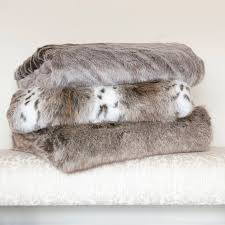 faux fur bed runners and throws by the fine cotton company