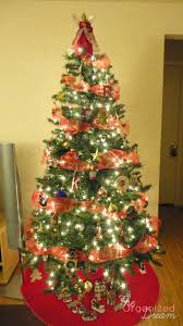 how to decorate a tree with wide mesh ribbon the