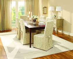 Dining Room Chair Seat Covers Dining Room Amazing Scroll Back Dining Chair Covers Red Seat