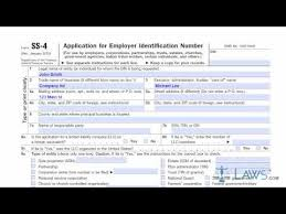 download ss 4 form application for employer identification