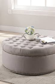 29 best foot stool images on pinterest ottomans round ottoman round beige tufted nail head ottoman on hautelook