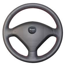 couvre si e auto b chauffée microfibre en cuir auto couvre volant pour peugeot 307