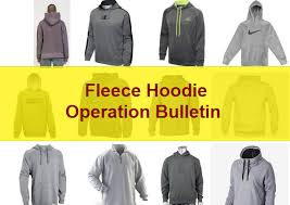 operation bulletin of a hoodie fleece pullover online clothing