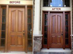 How To Refinish An Exterior Door The Easy Way by How To Refinish Front Door All Paint Ideas