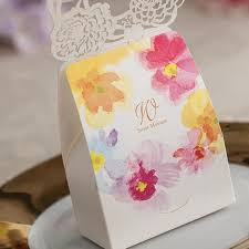 wedding candy favors chocolate favor box flower wedding candy holder wedding