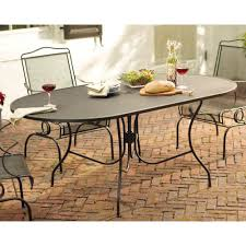Wrought Iron Patio Furniture Glides by Arlington House Jackson Oval Patio Dining Table Chair Glides Cool