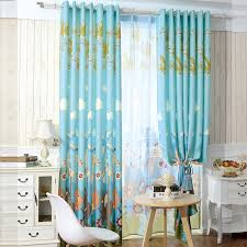 Blackout Yellow Curtains Best Blackout Kids Lion Nursery Curtains In Blue Color