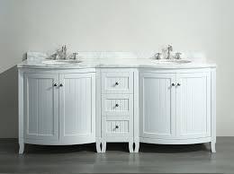 Inch Double Sink Bathroom Vanity White Carrera Marble Top - Carrera marble bathroom vanity